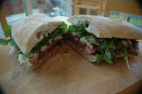 The finished Steak Sandwich
