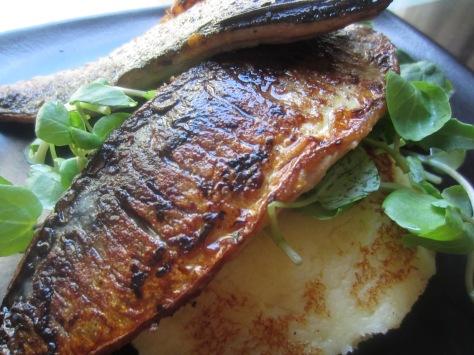 Sautéed Mackerel and Fried Potato