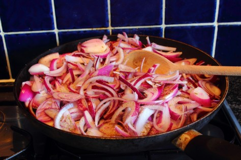 Onion Relish in the pan